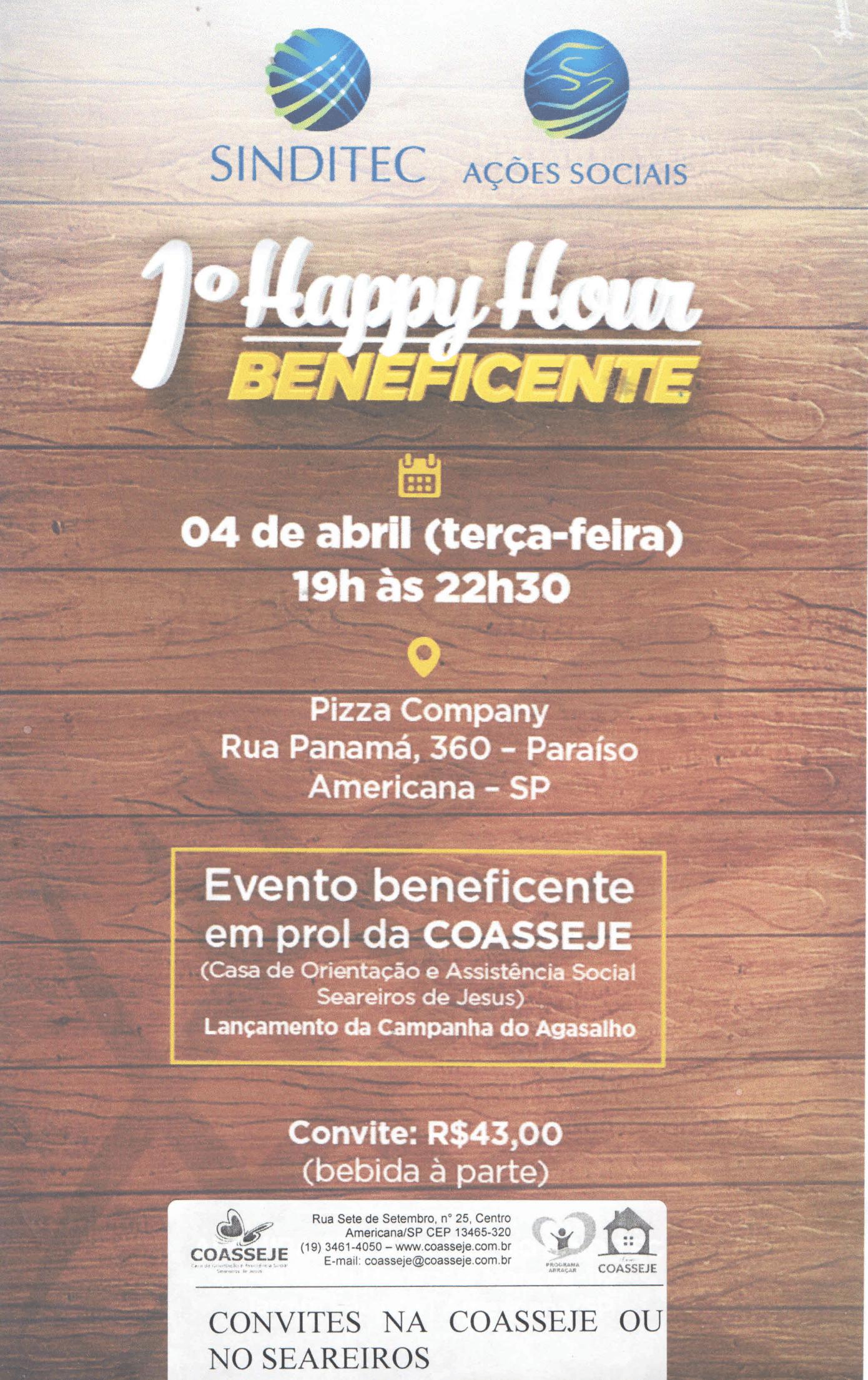 Happy Hour em prol da Coasseje