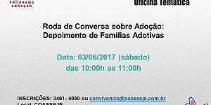 Roda de Conversa sobre Adoção: Depoimento de famílias adotivas