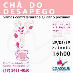 Chá do desapego - 23/11/2019
