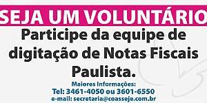 Seja um Voluntário - Nota Fiscal Paulista